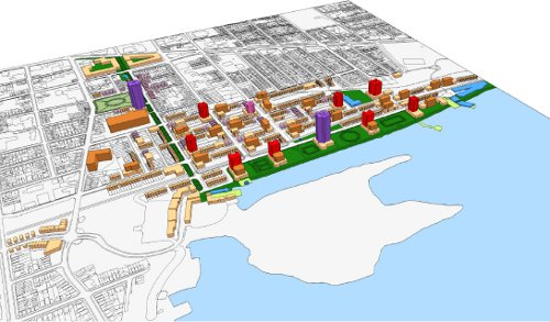 Concept Plan Produced by Citizen Group in 2012 for use of CN railyard lands.