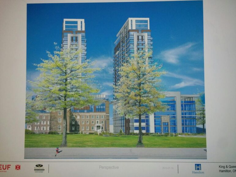 Now-defunct proposal for redevelopment of 364 King West as presented in January 2015