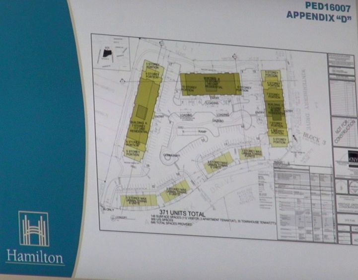 A slide from the staff presentation showing the proposed layout of the 20 Artfrank Drive development