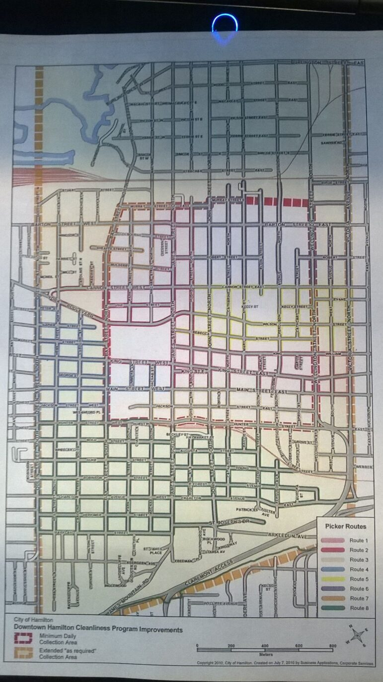 Downtown Garbage Pickup Routes