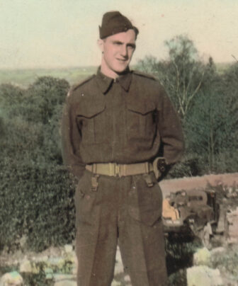 Private Jack McFarland in England, 1940