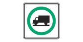 Permissive Truck Route Sign