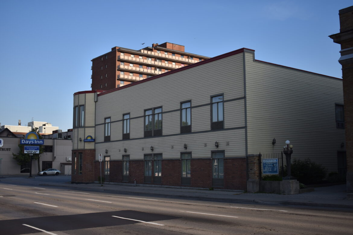 A photo of 210 Main Street East, the current site of the Days Inn Hotel.