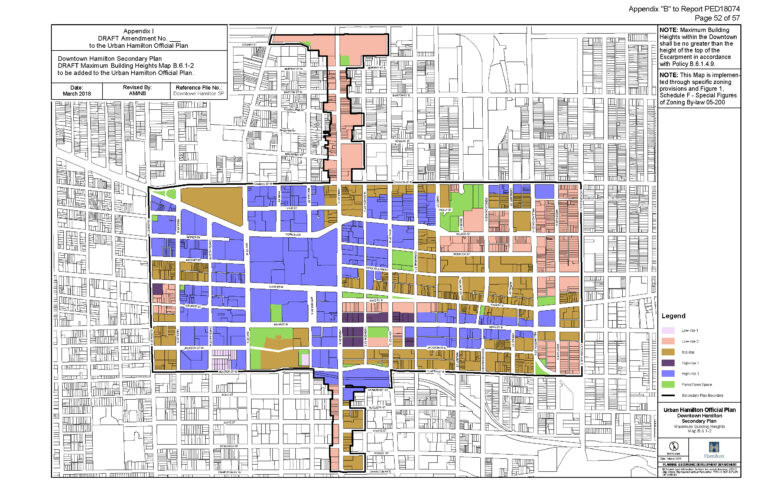 Fiedler Downtown Secondary Plan Height Max Subject to Tall Building